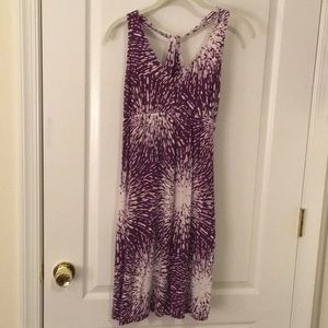 Rayon knit halter dress, size medium
